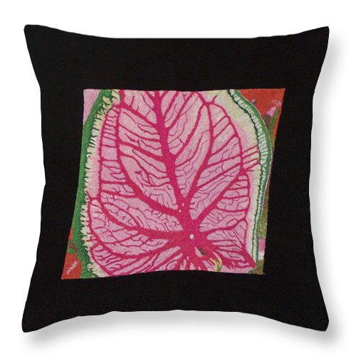 Nature Throw Pillow featuring the mixed media Coleus by Jenny Williams