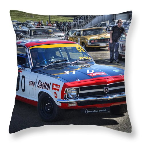 Holden Throw Pillow featuring the photograph Colin Bond Torana Gtr by Stuart Row