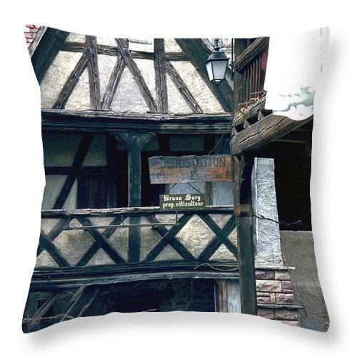 Colmar Throw Pillow featuring the photograph Colmar by Flavia Westerwelle