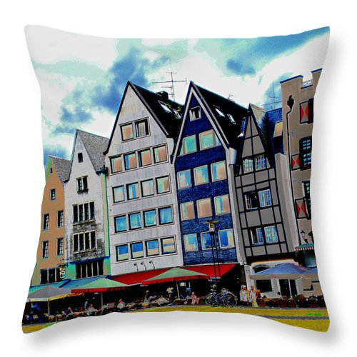 Rhine Throw Pillow featuring the photograph Cologne On The Rhine by Jeff Barrett