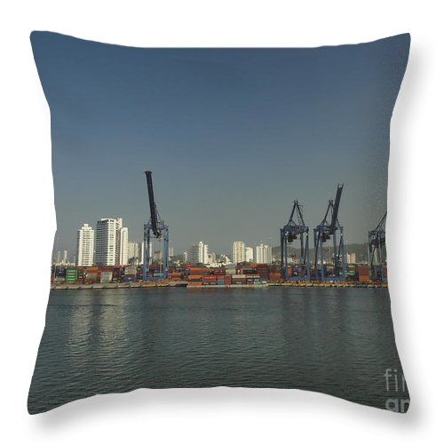 Cartagena Throw Pillow featuring the photograph Colombia017 by Howard Stapleton