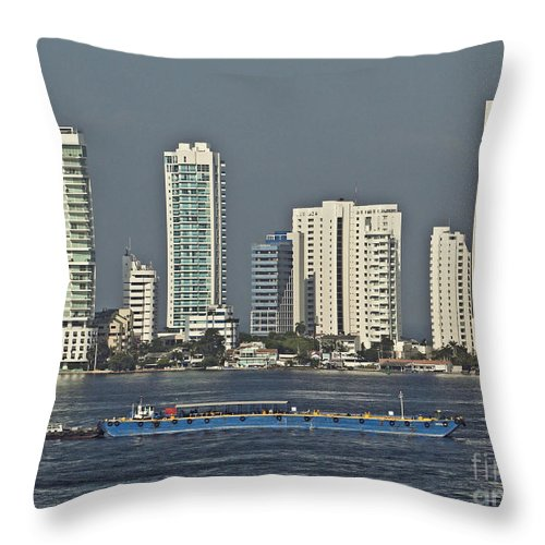 Architecture Throw Pillow featuring the photograph Colombia020 by Howard Stapleton