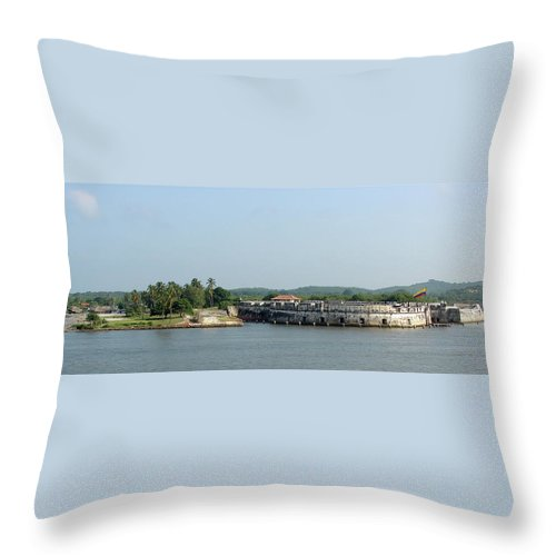 Fortress Throw Pillow featuring the photograph Colombian Fortress by Brett Winn