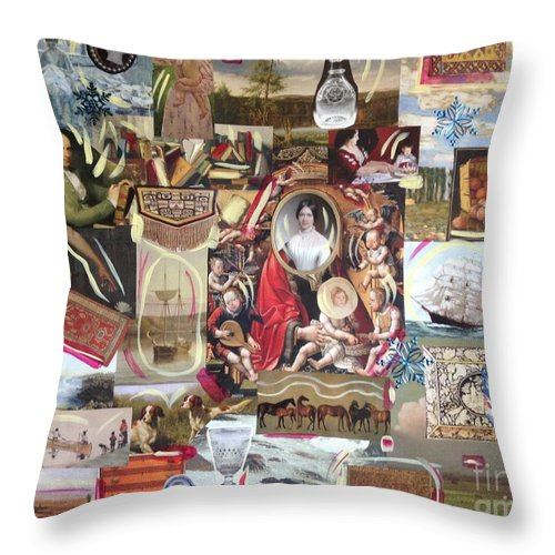 Fine Art Throw Pillow featuring the photograph Colonial Heritage - Panel 2 by Margaret Lindsay Holton