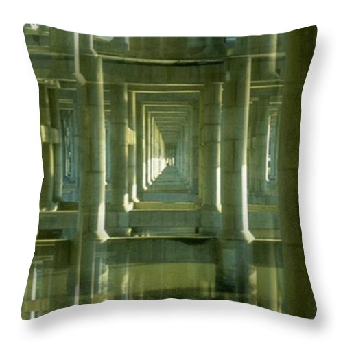 Seattle Throw Pillow featuring the photograph Colonnade Park Seattle by Tim Allen