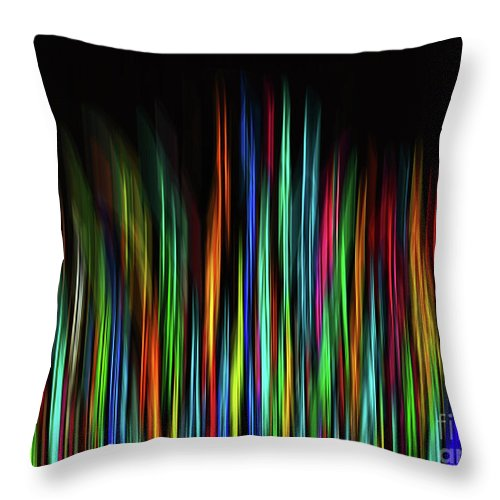 Colorful Throw Pillow featuring the digital art Color Abstract 3.31 by L Bee