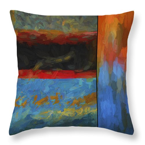 Abstract Throw Pillow featuring the digital art Color Abstraction Li by David Gordon