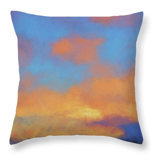 Abstract Throw Pillow featuring the digital art Color Abstraction Lvii by David Gordon