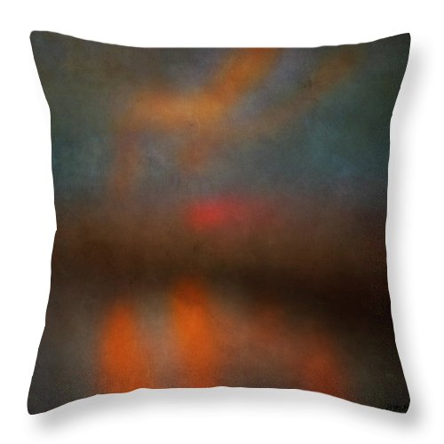 Abstract Throw Pillow featuring the photograph Color Abstraction Xxv by David Gordon