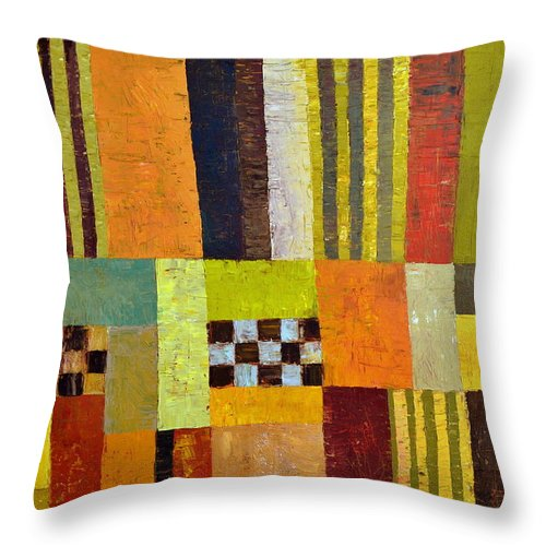 Colorful Throw Pillow featuring the painting Color And Pattern Abstract by Michelle Calkins