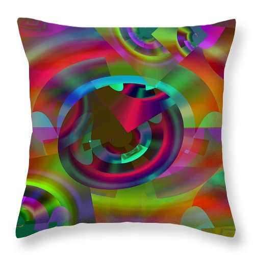 Color Throw Pillow featuring the digital art Color Dome by Lynda Lehmann