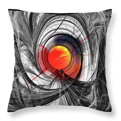 Digital Throw Pillow featuring the digital art Color Expansion by Anna K