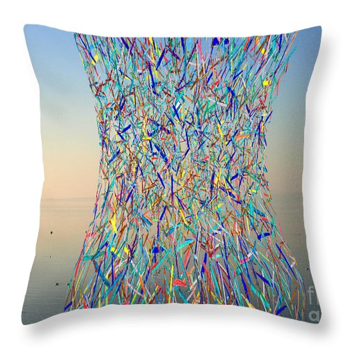 Bay Throw Pillow featuring the photograph Color Explosion by Andy Mercer