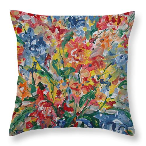 Painting Throw Pillow featuring the painting Color Expressions. by Leonard Holland