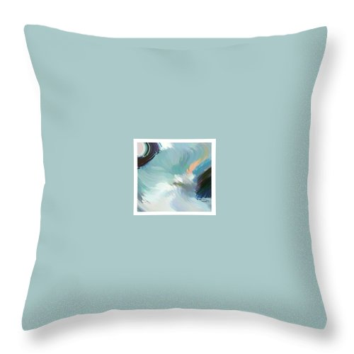 Landscape Digital Art Throw Pillow featuring the digital art Color Falls by Anil Nene
