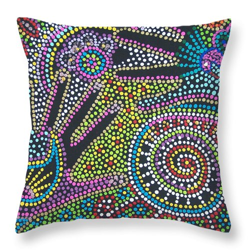 Color Throw Pillow featuring the painting Color Fantasy by Vijay Sharon Govender