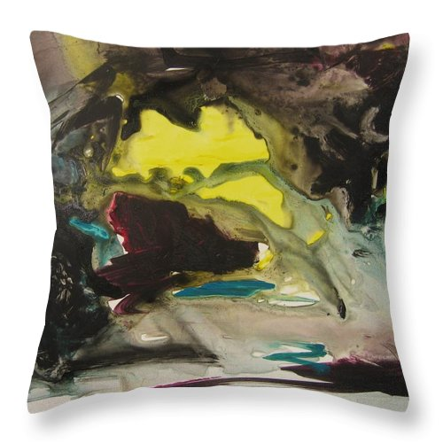 Abstract Paintings Throw Pillow featuring the painting Color Fever 117 by Seon-Jeong Kim