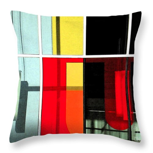 Blue Throw Pillow featuring the photograph Color Grid 1 by Gary Everson