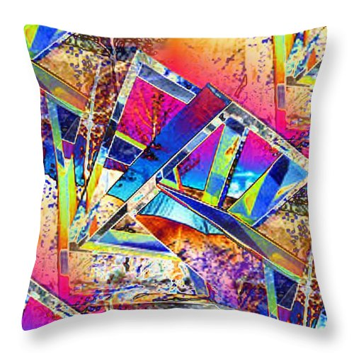 Seattle Throw Pillow featuring the photograph Color Me Abstract by Tim Allen