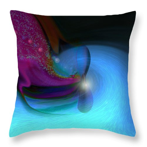 Abstract Art Throw Pillow featuring the digital art Color Movements by Linda Sannuti