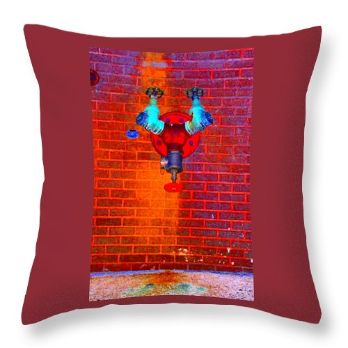 Color Photograph Throw Pillow featuring the photograph Color Pipe by Thomas Valentine
