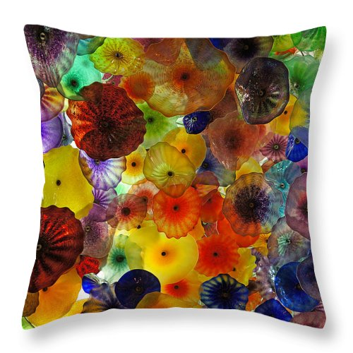 Ann Keisling Throw Pillow featuring the photograph Color Pop by Ann Keisling
