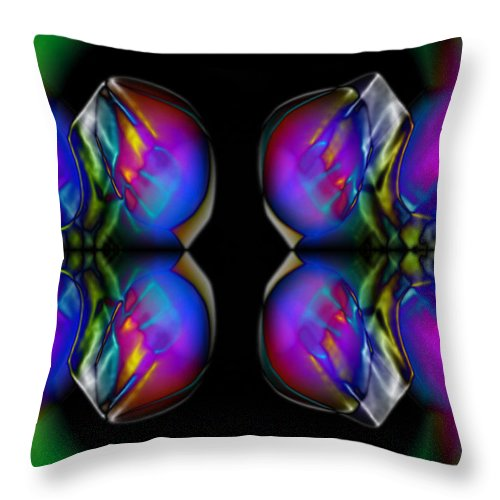 Colors Throw Pillow featuring the digital art Color Prongs by Chad Davis