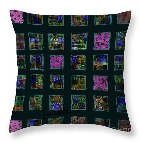 Color Squares Throw Pillow featuring the digital art Color Square 2 by Andy Mercer