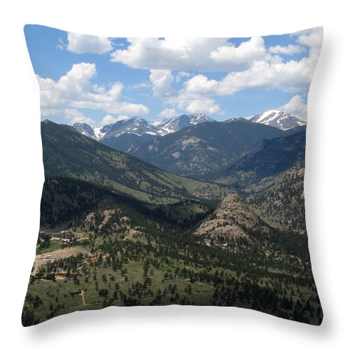 Colorado Throw Pillow featuring the photograph Colorado by Amanda Barcon