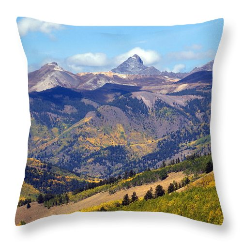 Mountains Throw Pillow featuring the photograph Colorado Mountains 1 by Marty Koch