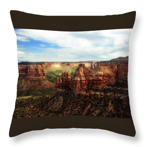 Americana Throw Pillow featuring the photograph Colorado National Monument by Marilyn Hunt