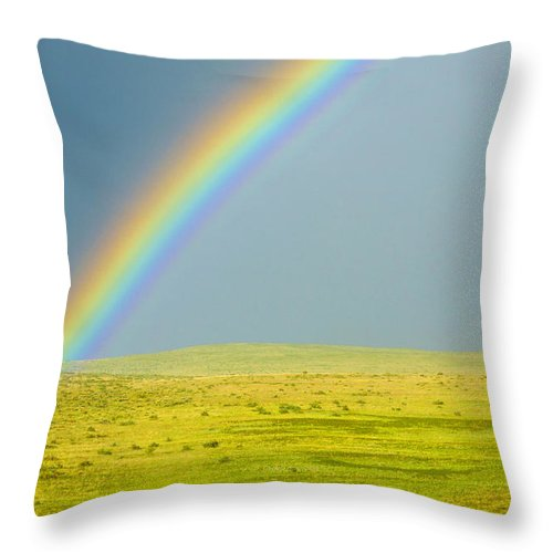 Colorado Throw Pillow featuring the photograph Colorado Rainbow by Marilyn Hunt