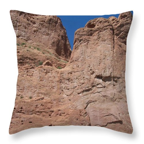 Colorado Throw Pillow featuring the photograph Colorado Redrock by Anita Burgermeister