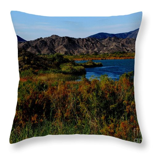 Patzer Throw Pillow featuring the photograph Colorado River by Greg Patzer