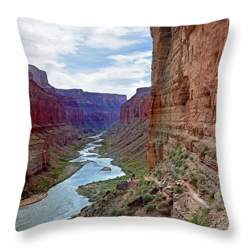 Colorado River Throw Pillow featuring the photograph Colorado River by Martin Massari