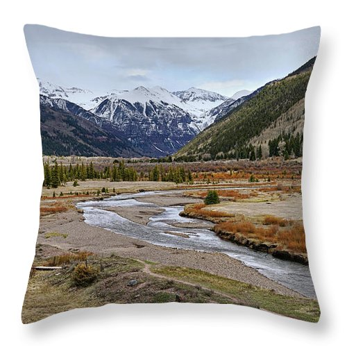 Colorado Throw Pillow featuring the photograph Colorful Colorado Valley by Leda Robertson