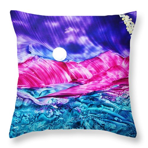 Bold Throw Pillow featuring the print Colorful Desert by Melinda Etzold