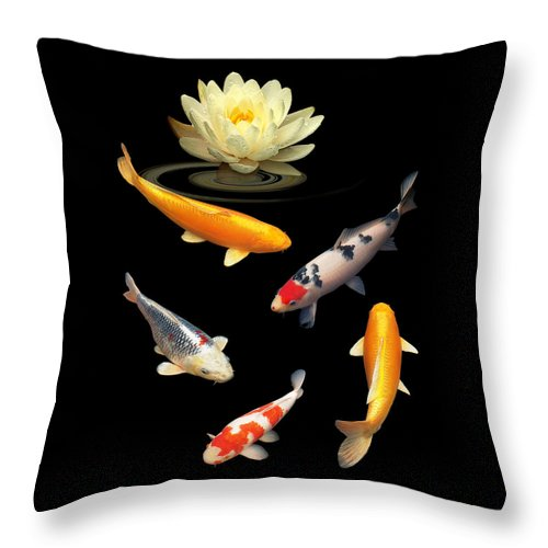 Fish Throw Pillow featuring the photograph Colorful Dreams by Gill Billington