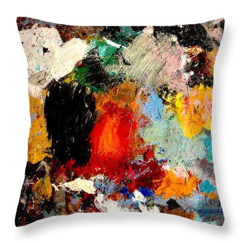 Abstract Throw Pillow featuring the painting Colorful Expressions by Natalie Holland