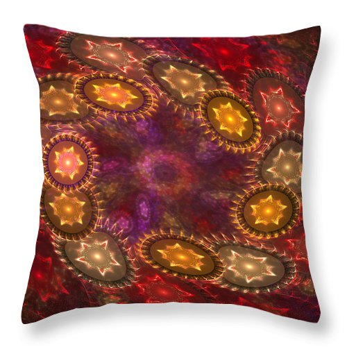 Stars Throw Pillow featuring the digital art Colorful Galaxy Of Stars by Deborah Benoit