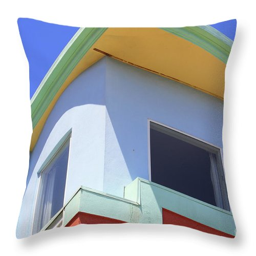 San Franciso Throw Pillow featuring the photograph Colorful House In San Francisco by Carol Groenen