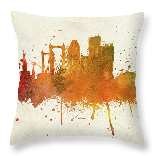 Colorful New Orleans City Skyline Throw Pillow For Sale By Dan Sproul