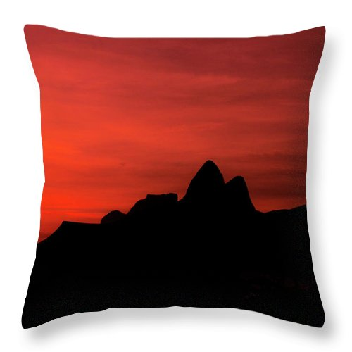 Ipanema Throw Pillow featuring the photograph Colorful Sunset by Cesar Vieira