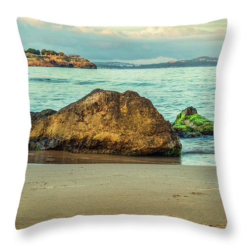 Landscape Throw Pillow featuring the photograph Colorful Sunset by Cucu Mihai