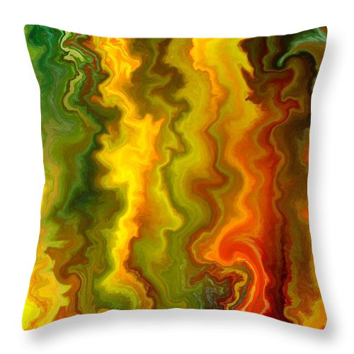 Contemporary Throw Pillow featuring the painting Colorful Thoughts by Rafi Talby