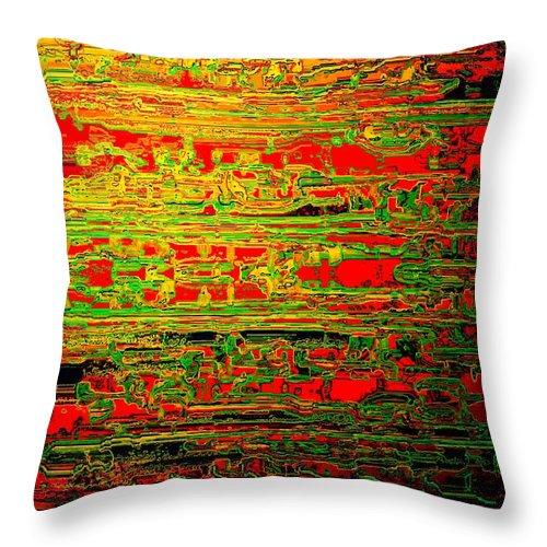 Colorisentenz Throw Pillow featuring the digital art Colorisentences by Helmut Rottler