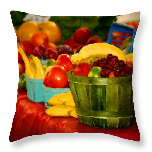 Tractors Throw Pillow featuring the digital art Colors Of Alabama by Michael Thomas