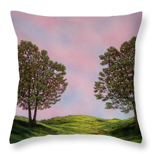 Landscape Throw Pillow featuring the painting Colors Of Dawn by Frank Wilson