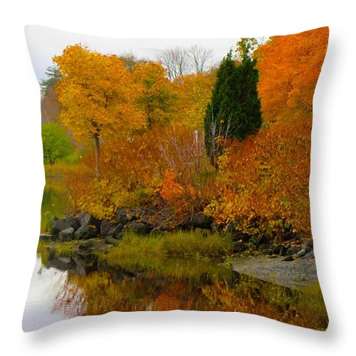 Autumn Photography Throw Pillow featuring the photograph Colors Of The Fall by Kathleen Sartoris