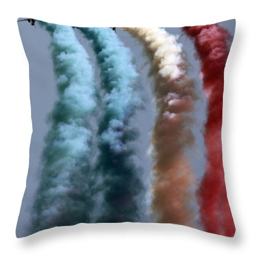 Throw Pillow featuring the photograph Colors On The Sky by Angel Ciesniarska